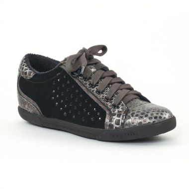 Tennis Et Baskets Mode Mamzelle Esto Python Etain, vue principale de la chaussure femme