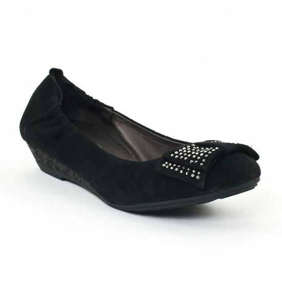 Ballerines Mamzelle Bonny Noir, vue principale de la chaussure femme
