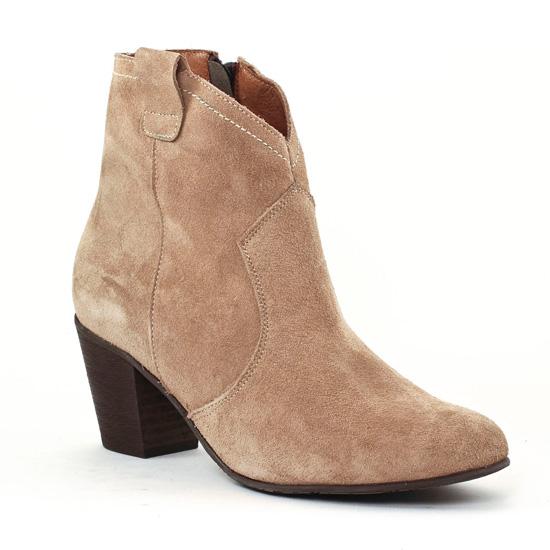 Bottines Et Boots Scarlatine 3471 Beige, vue principale de la chaussure femme