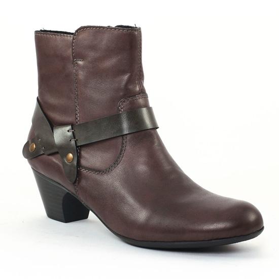 Rieker 70553 Graphite | boot confort marron taupe automne
