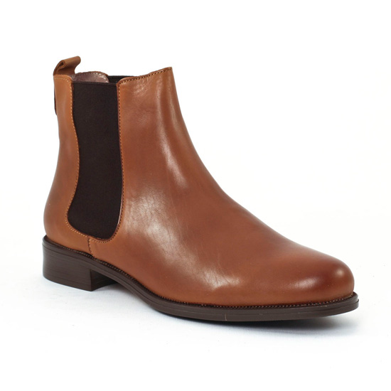 Scarlatine Co7051 Cognac | boot élastiquées marron clair