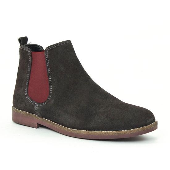 Bottines Et Boots Scarlatine 6127 Anthracite, vue principale de la chaussure femme