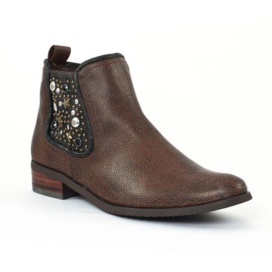 Bottines Et Boots Fugitive Rock Cognac, vue principale de la chaussure femme
