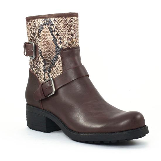 Bottines Et Boots Axell Panbo Chocolat, vue principale de la chaussure femme