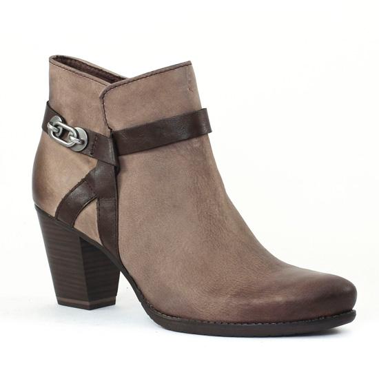 Tamaris Boots à talons taupe bZSKlYnKzG