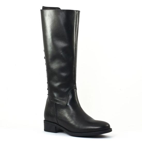 Scarlatine Svi50673 Noir | botte à lacets noir automne hiver