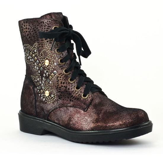 Bottines Et Boots Mamzelle Unes Bronze, vue principale de la chaussure femme