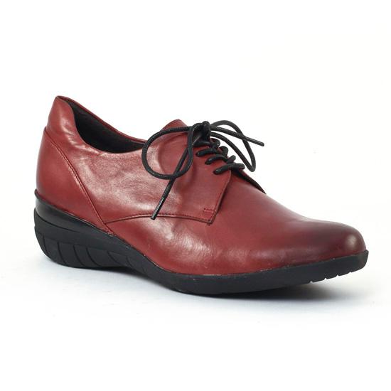 Chaussures À Lacets Mamzelle Iloe Bordeaux, vue principale de la chaussure femme