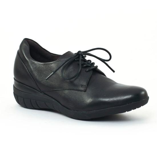 Chaussures À Lacets Mamzelle Iloe Noir, vue principale de la chaussure femme