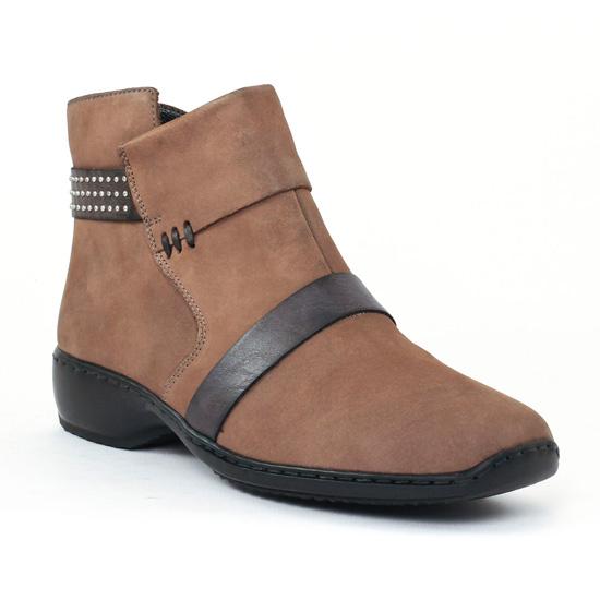 Rieker Z3853 Maus Smo | low boot confort beige automne hiver
