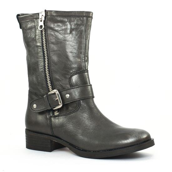 Bottes Scarlatine co77235c Noir argent, vue principale de la chaussure femme