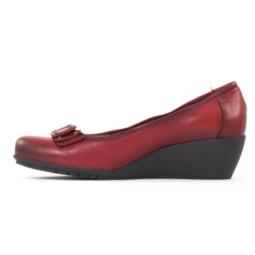 chaussure femme compensee rouge. Black Bedroom Furniture Sets. Home Design Ideas