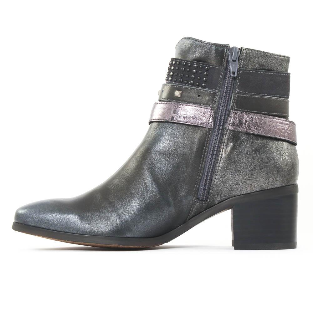 Chaussures femme bottine Bottes argent gris 38 vDzMkqUPp