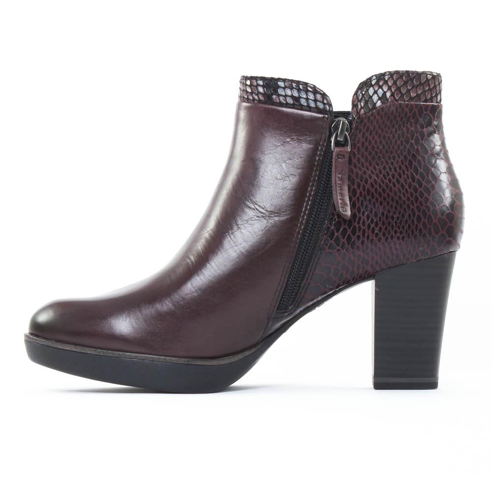 tamaris 25047 berry boot confort bordeaux automne hiver chez trois par 3. Black Bedroom Furniture Sets. Home Design Ideas