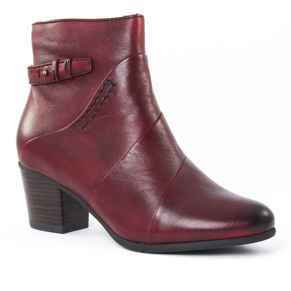 Tamaris Bottines à lacets rouge z1m9J