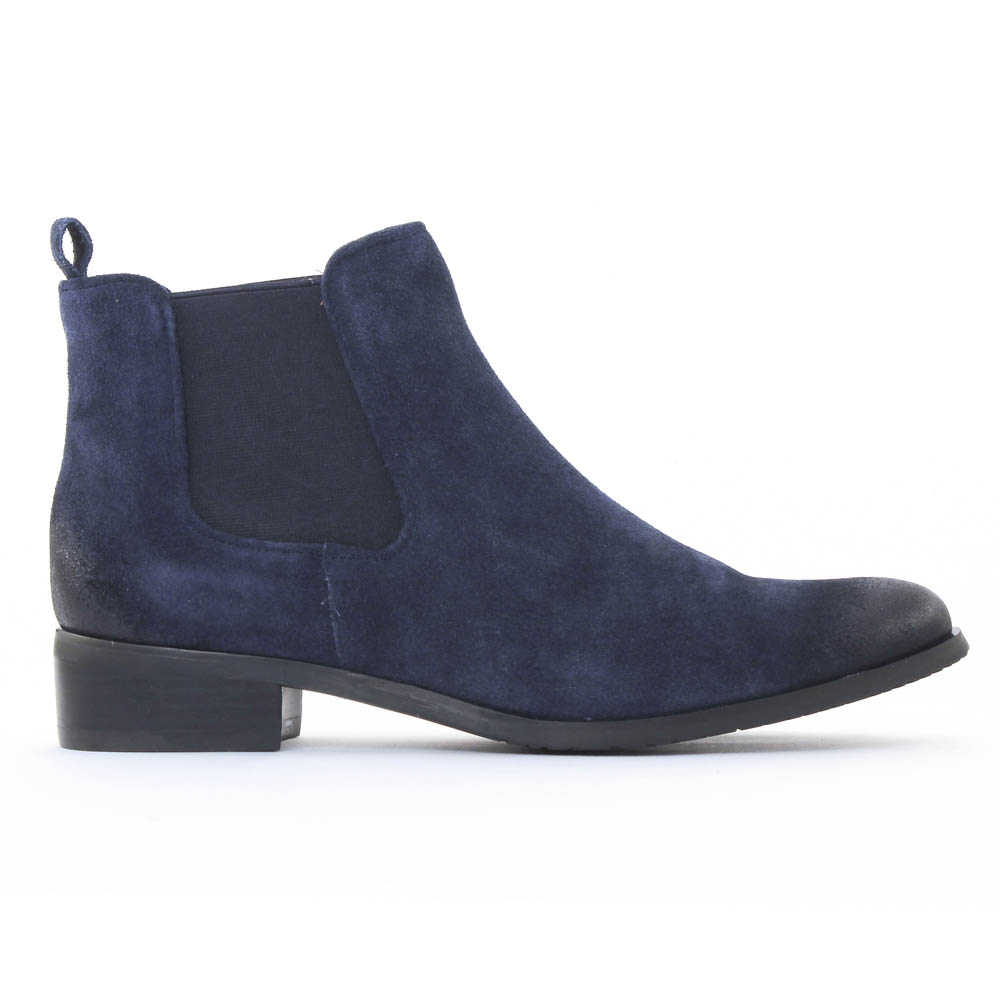 fugitive rola velours navy | boot élastiquées bleu marine automne