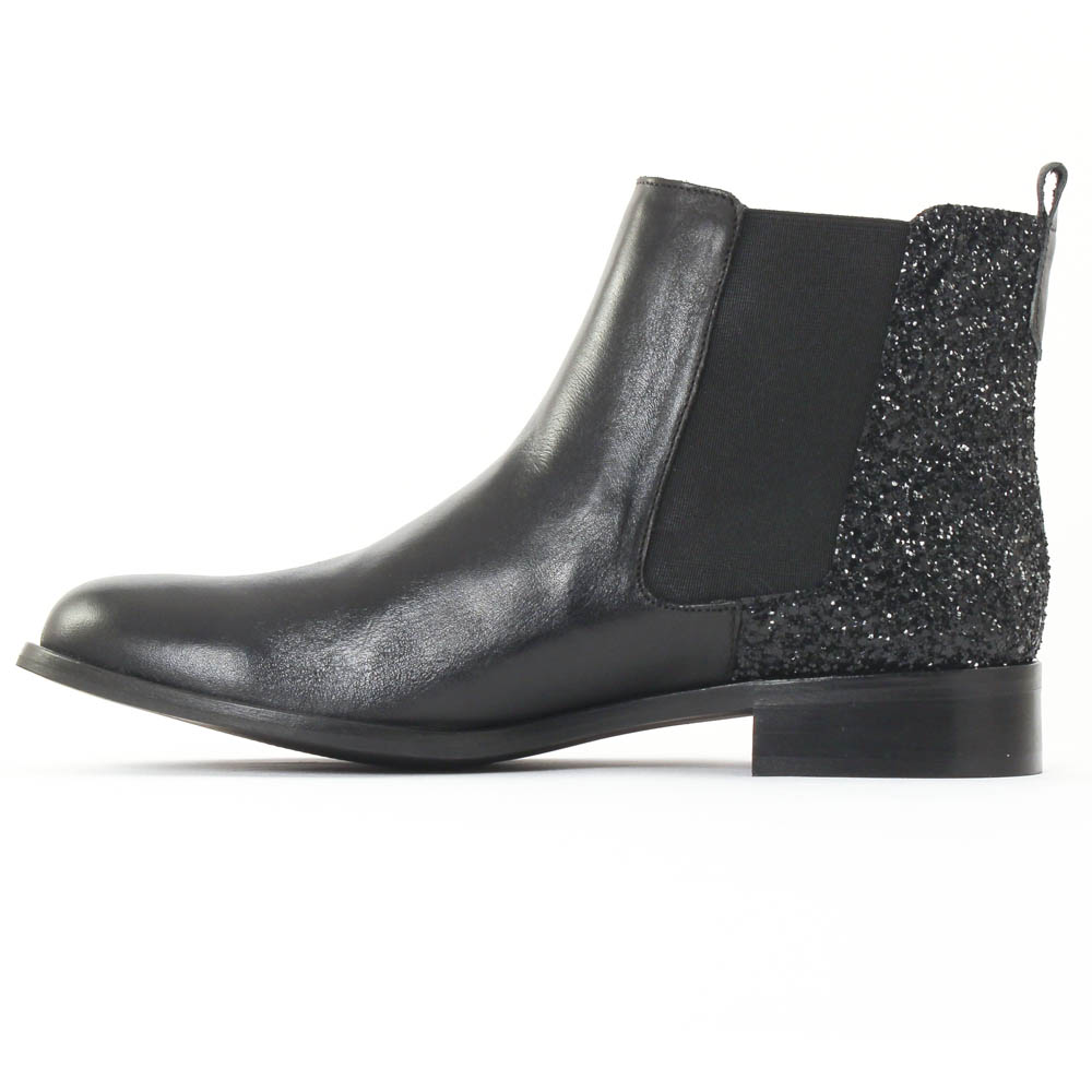 scarlatine 2662 glitter noir boot lastiqu es noir paillettes automne hiver chez trois par 3. Black Bedroom Furniture Sets. Home Design Ideas