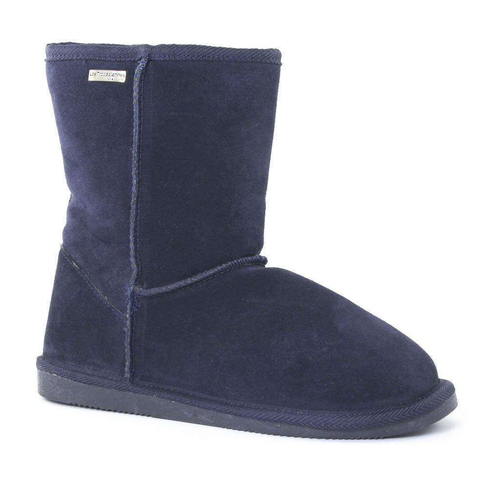 boots fourrées bleu marine mode femme automne hiver vue 1