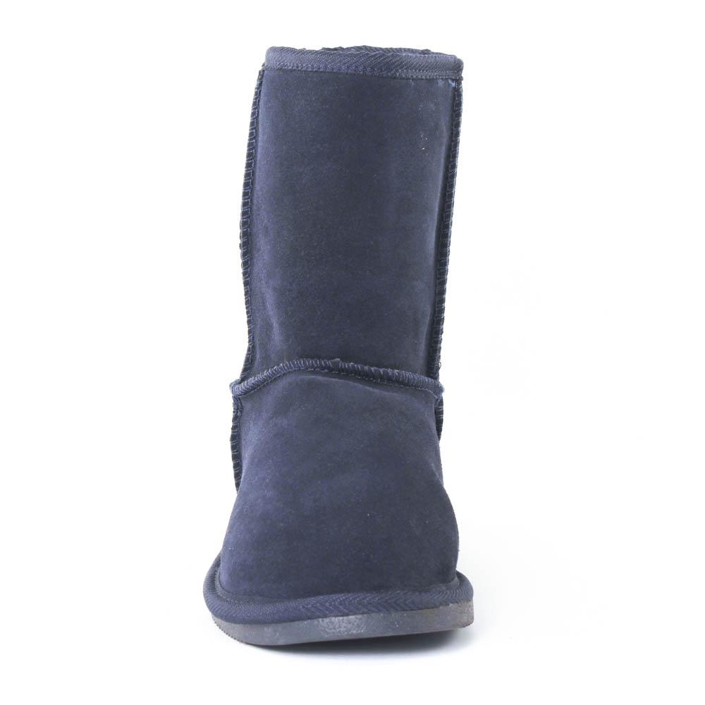boots fourrées bleu marine mode femme automne hiver vue 6