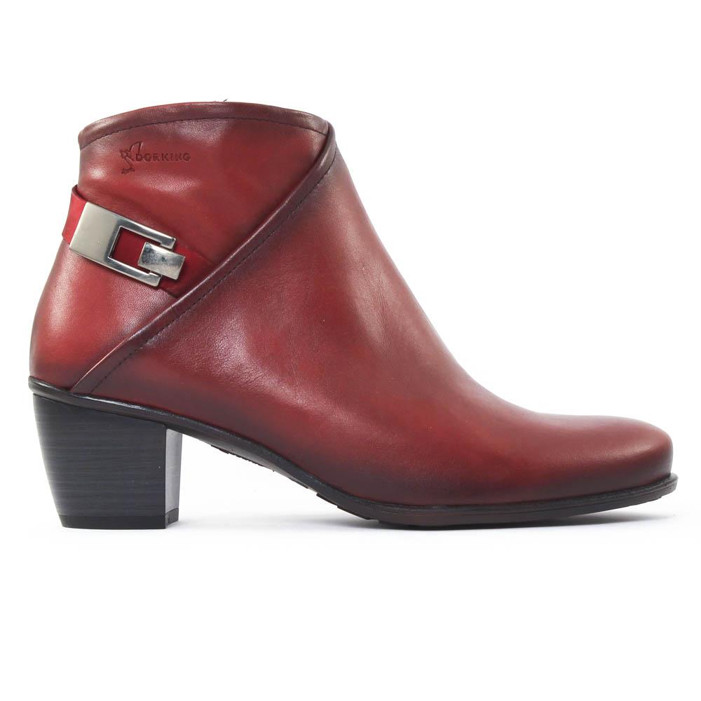b6e3ca888e01 boots rouge mode femme automne hiver vue 2