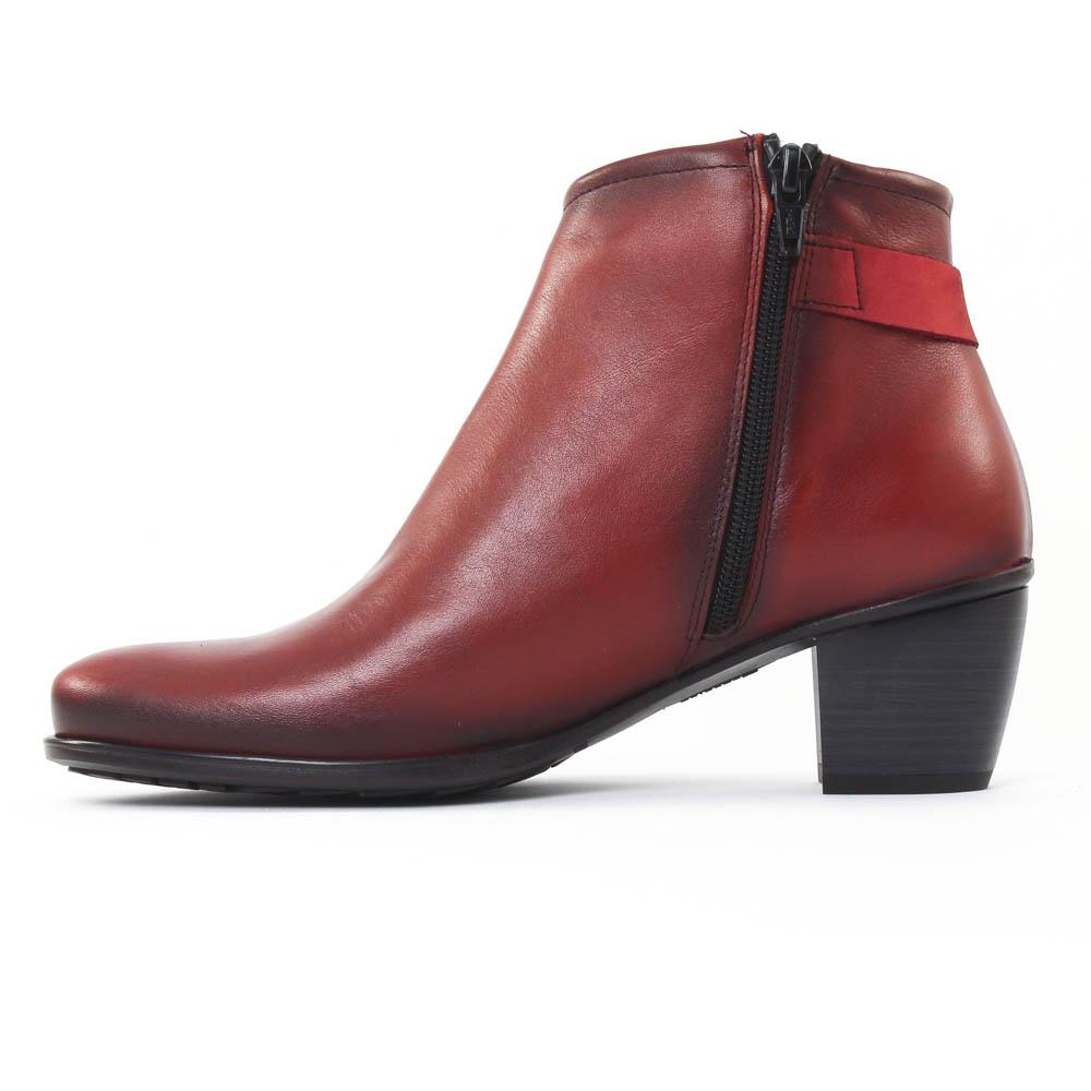 dorking 6408 brisda rouge | boots rouge automne hiver chez trois par 3