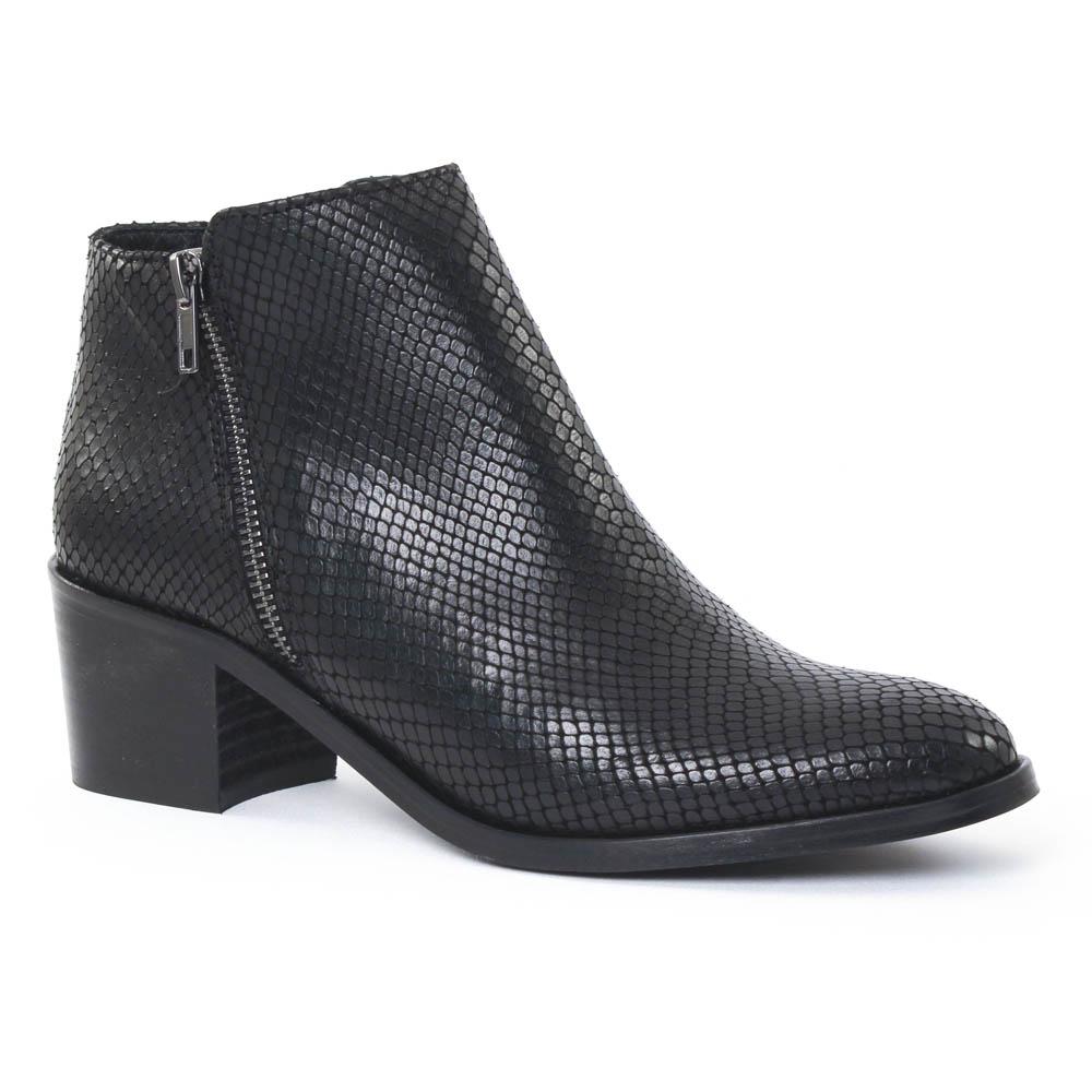 scarlatine 6543 serpent noir boots serpent noir automne hiver chez trois par 3. Black Bedroom Furniture Sets. Home Design Ideas