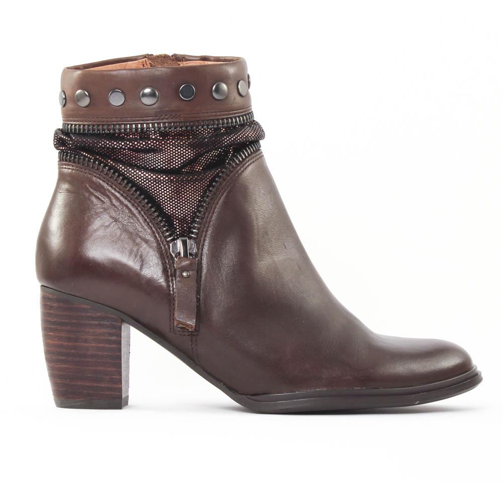 mamzelle zelie moka boot talon marron dor automne hiver chez trois par 3. Black Bedroom Furniture Sets. Home Design Ideas
