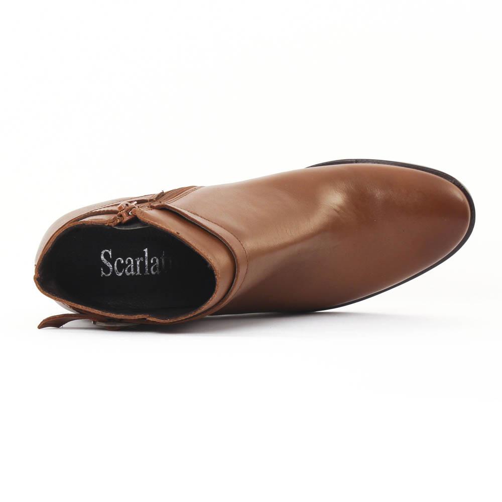 scarlatine 77305 cognac | boot talon marron automne hiver chez