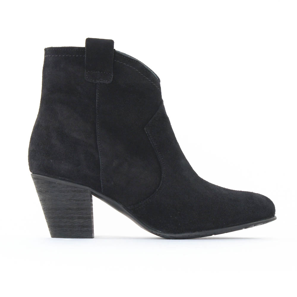 scarlatine 3471 noir | boot talon noir automne hiver chez trois par 3