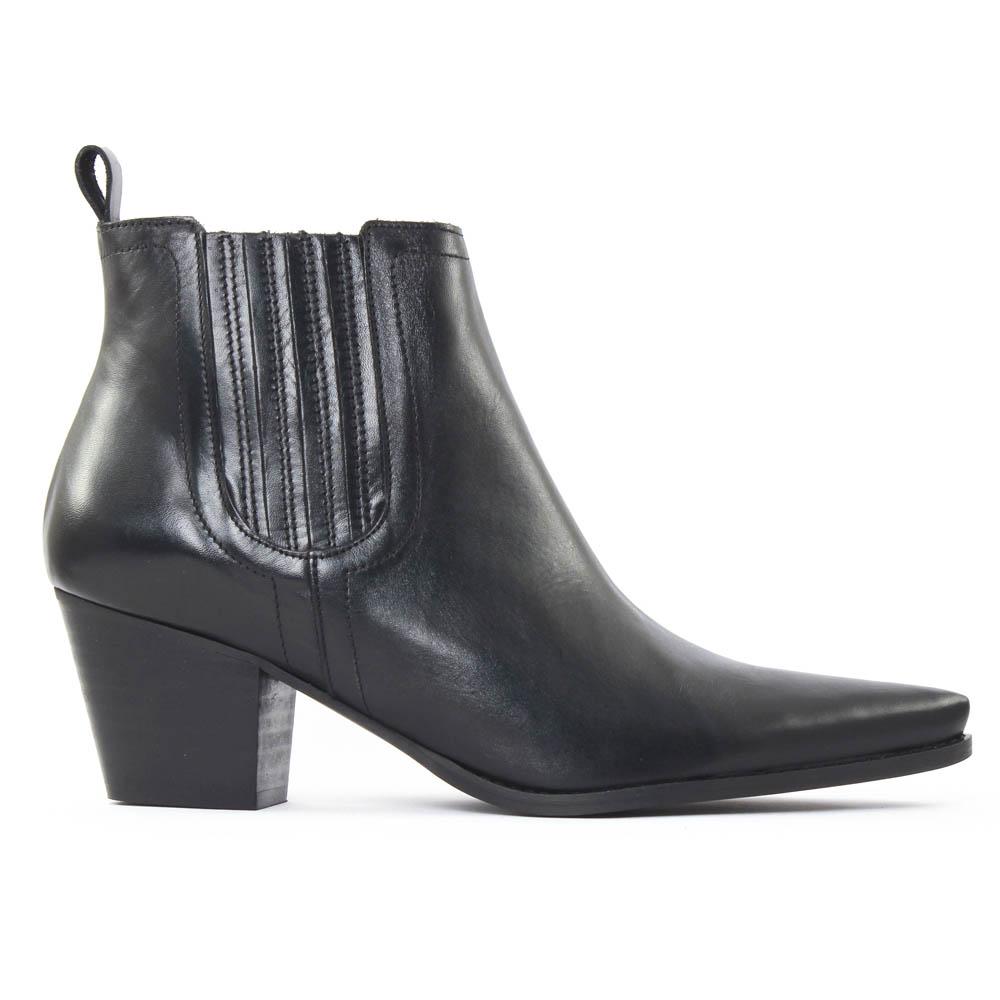 scarlatine 77100 noir boot talon noir automne hiver chez. Black Bedroom Furniture Sets. Home Design Ideas