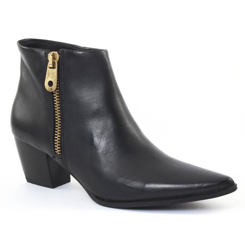 scarlatine al005 noir boot talon noir automne hiver chez. Black Bedroom Furniture Sets. Home Design Ideas