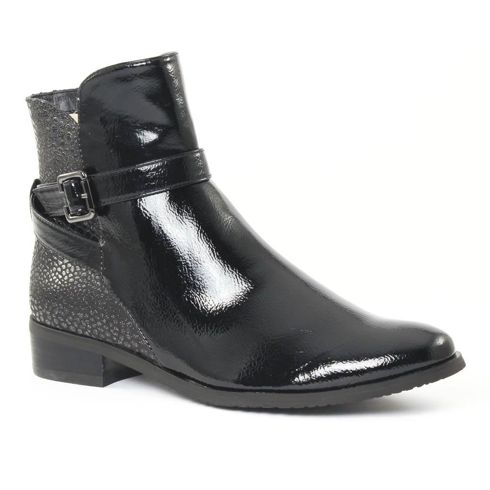 fugitive rupert vernis noir noir boots vernis noir. Black Bedroom Furniture Sets. Home Design Ideas