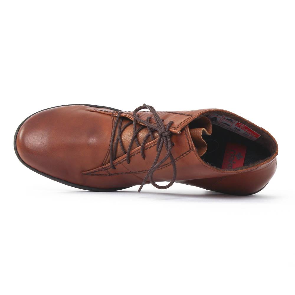 rieker 57112 muscat | bottine à lacets marron automne hiver chez