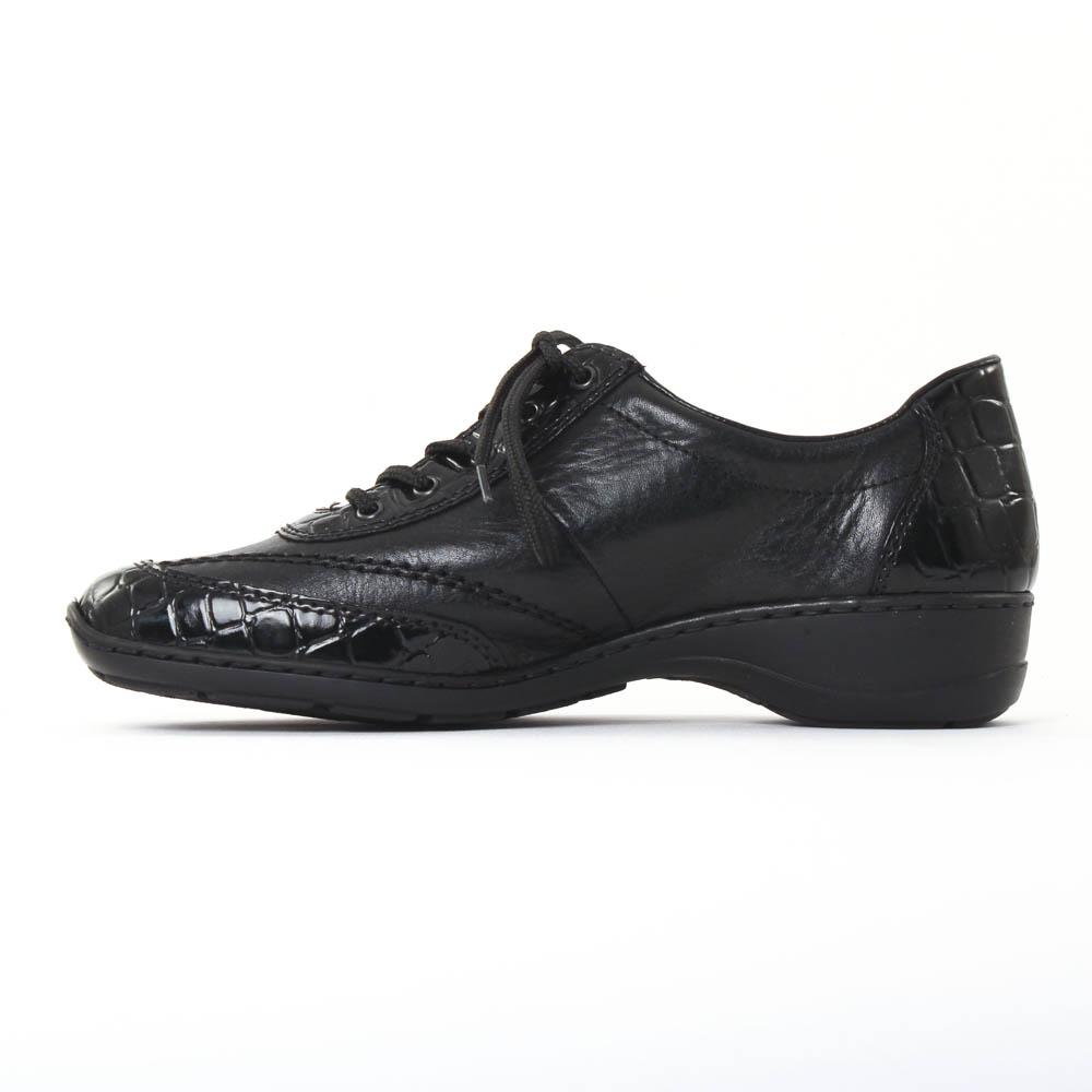 rieker 58304 noir chaussure confort noir automne hiver chez trois par 3. Black Bedroom Furniture Sets. Home Design Ideas