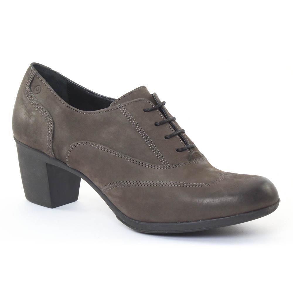 24c1193f97838e Chaussures femme hiver 2015 - derbys talon Khrio marron taupe