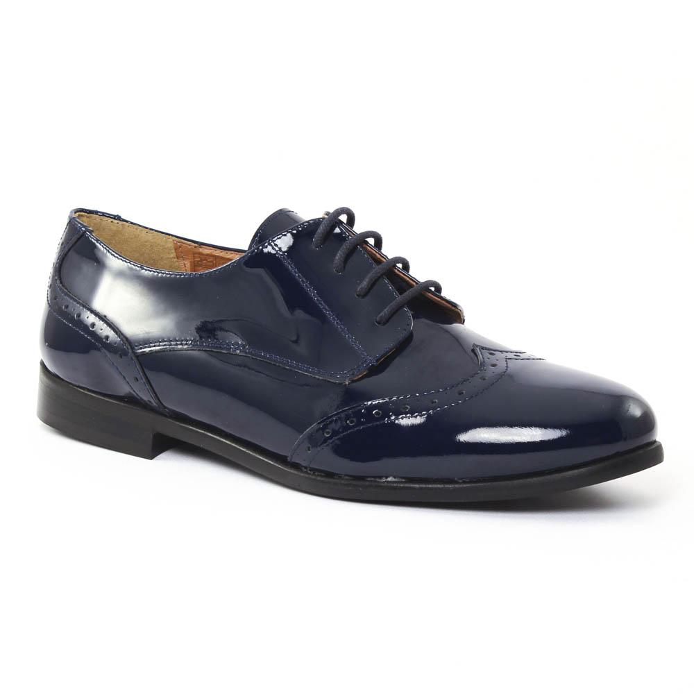 scarlatine 5258706 cagoom derbys vernis bleu automne. Black Bedroom Furniture Sets. Home Design Ideas