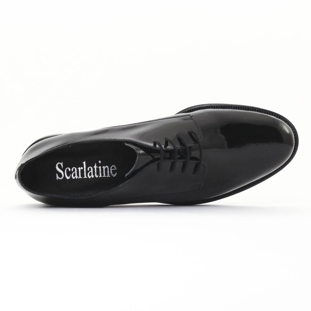 scarlatine 22034 vernis noir derbys vernis noir automne hiver chez trois par 3. Black Bedroom Furniture Sets. Home Design Ideas