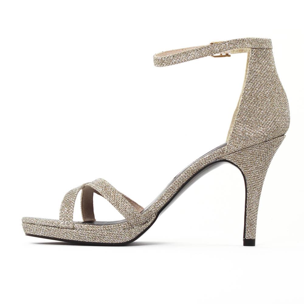 site réputé b5c08 cafd1 Tamaris 28303 Platinum | escarpin brides pailletté doré ...