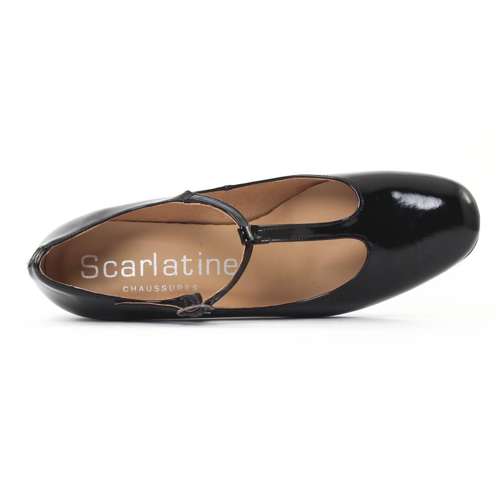 scarlatine 5248682 noir escarpin salom vernis noir. Black Bedroom Furniture Sets. Home Design Ideas