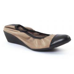 ballerines-talons-compenses beige: même style de chaussures en ligne pour femmes que les Marco Tozzi
