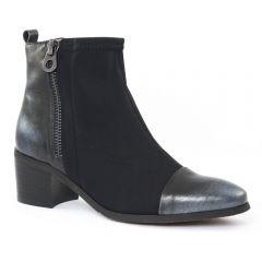 Chaussures femme hiver 2015 - boots talon fugitive argent noir