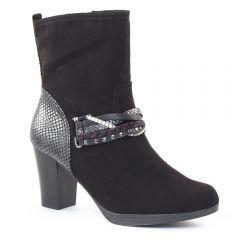 bottillons noir: même style de chaussures en ligne pour femmes que les Mamzelle
