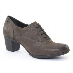 derbys-talon marron taupe: même style de chaussures en ligne pour femmes que les Khrio