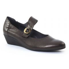 escarpins-talons-compenses marron foncé: même style de chaussures en ligne pour femmes que les Tamaris