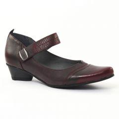 escarpins-trotteur bordeaux: même style de chaussures en ligne pour femmes que les Marco Tozzi