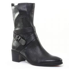 Chaussures femme hiver 2015 - mi-bottes fugitive python gris noir