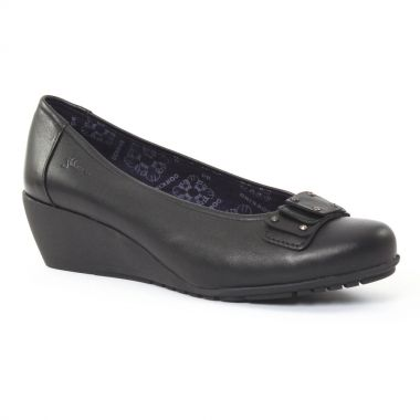 Ballerines Dorking 6173 Noir, vue principale de la chaussure femme