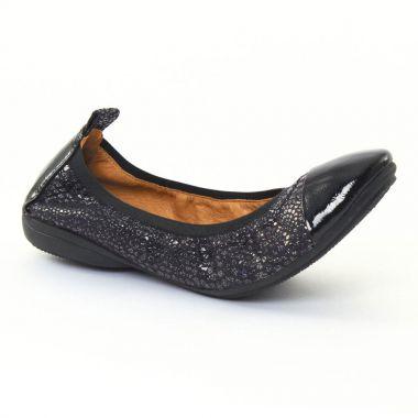 Ballerines Fugitive Nozy Vernis noir noir, vue principale de la chaussure femme