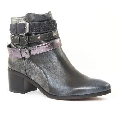 Bottines Et Boots Fugitive Louxor Argent gris, vue principale de la chaussure femme