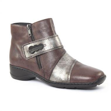 Bottines Et Boots Rieker 78352 Graphite, vue principale de la chaussure femme